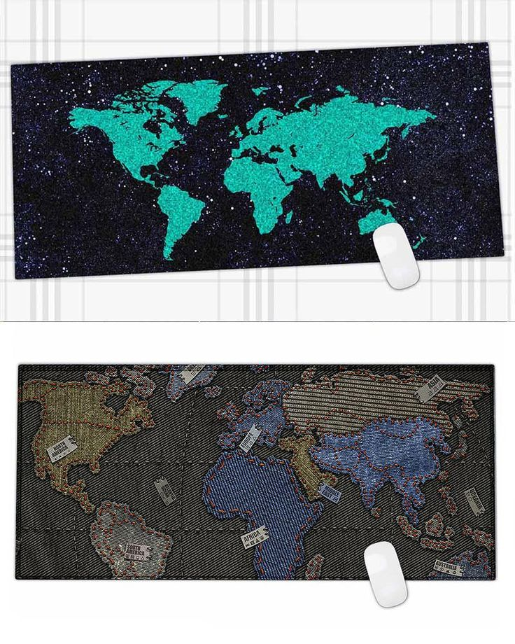 [Visit to Buy] 600*450MM Map Rubber Speed Game Mouse Pad personalized Big Mouse Mat for gta 5/ dota 2 #Advertisement