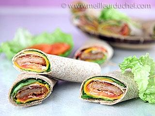 Wraps poulet/bacon