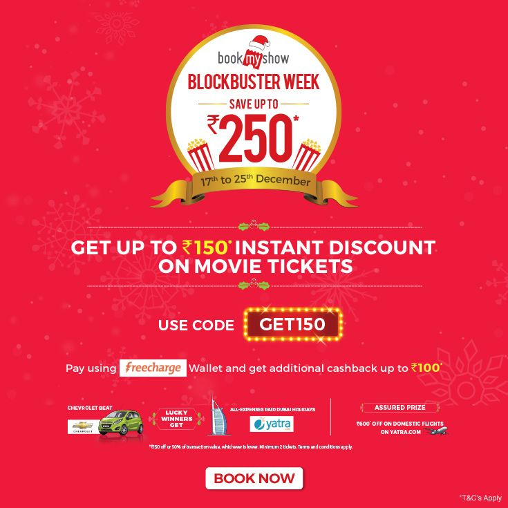Bookmyshow discount coupons for new users
