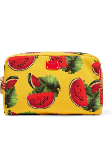 Dolce & Gabbana - Printed Shell Cosmetics Case - Marigold - one size