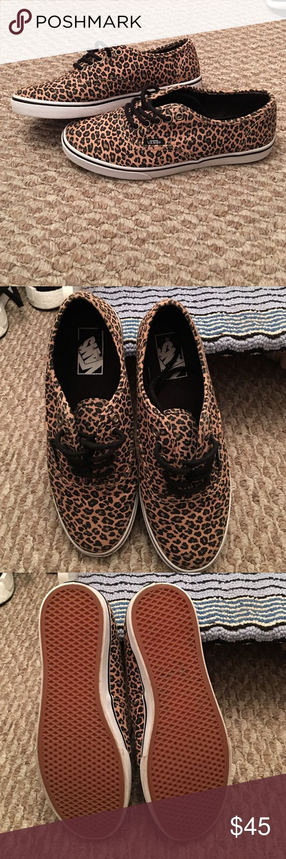 Vans authentic low pro cheetah print These vans are adorable - I just rarely wear them. They've only been worn a handful of time and are in awesome condition with very light wear. No box. Vans Shoes Sneakers