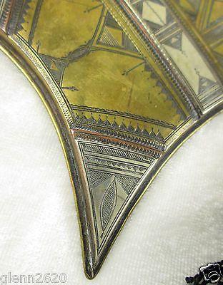 Vintage Tuareg Gri Gri Fringed Necklace Amulet Copper Silver Brass Mali Africa 3 • $225.00