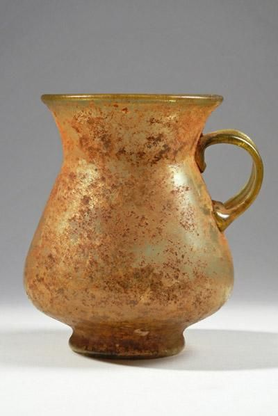 Roman Amber Glass Jar | 1st Century AD | Price $0.00 | Roman | Glass | Vessels | eTiquities by Phoenix Ancient Art