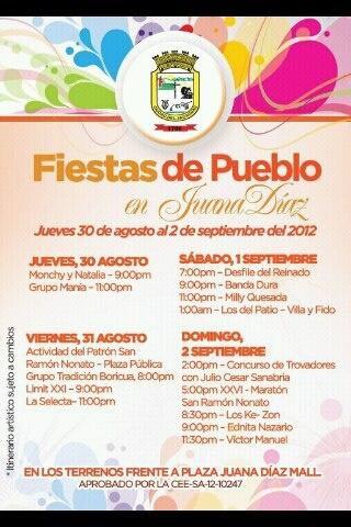 Fiestas de Pueblo en Juana Díaz 2012.