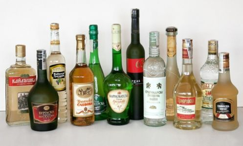 """The Bulgarians are well-known also with their passion toward alcohol drinks. Here are a couple examples of the traditional Bulgarian drink """"#Rakia"""". - Miro"""