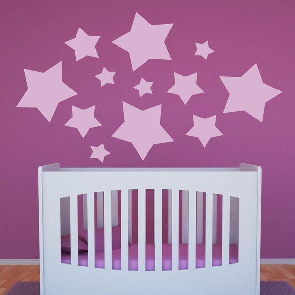 Stelle Galaga - Adesivi murali bambini a kit. #adesivimurali #decorazione #modelli #mosaico #stelle #StickersMurali