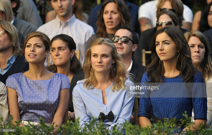 Eva Mendes, Diane Kruger, and Camilla Belle attend the CFDA/Vogue Fashion Fund Event at Chateau Marmont on October 30, 2009 in West Hollywood, California.