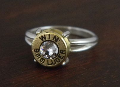 Women's Sharp Shooter Sterling Silver Bullet Ring
