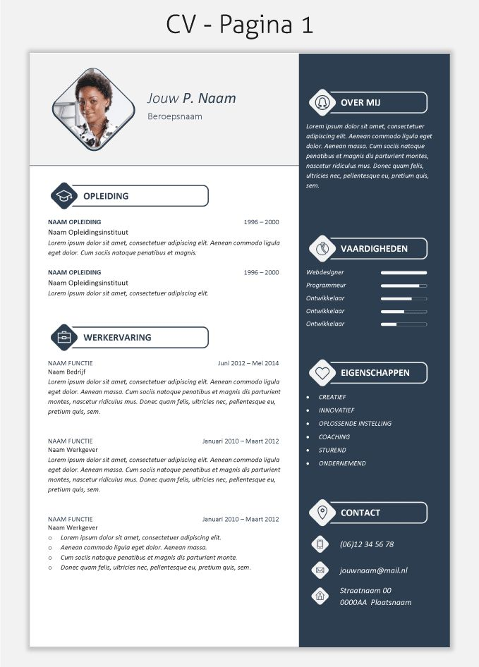 CV template 2017 om te downloaden