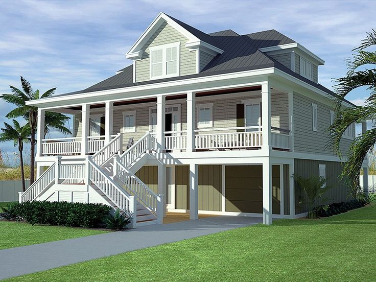 Eplans Low Country House Plan Coastal Low Country 2629