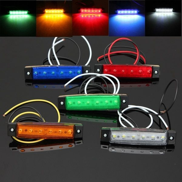 Dc Led 12v 6 Smd Led Auto Car Bus Truck Lorry Side Marker Indicator Low Led Trailer Light Rear Side Lamp 5 Color Review Led Trailer Lights Lorry Indicator Lights