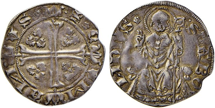 NumisBids: Nomisma Spa Auction 51, Lot 1308 : COMO Azzone Visconti (1335-1339) Grosso da 24 imperiali – Biaggi...
