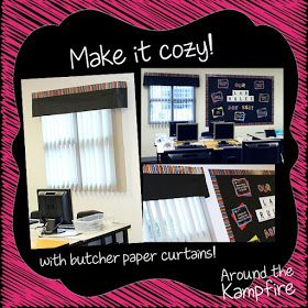Computer lab classroom decor:  Make it cozy with curtains!