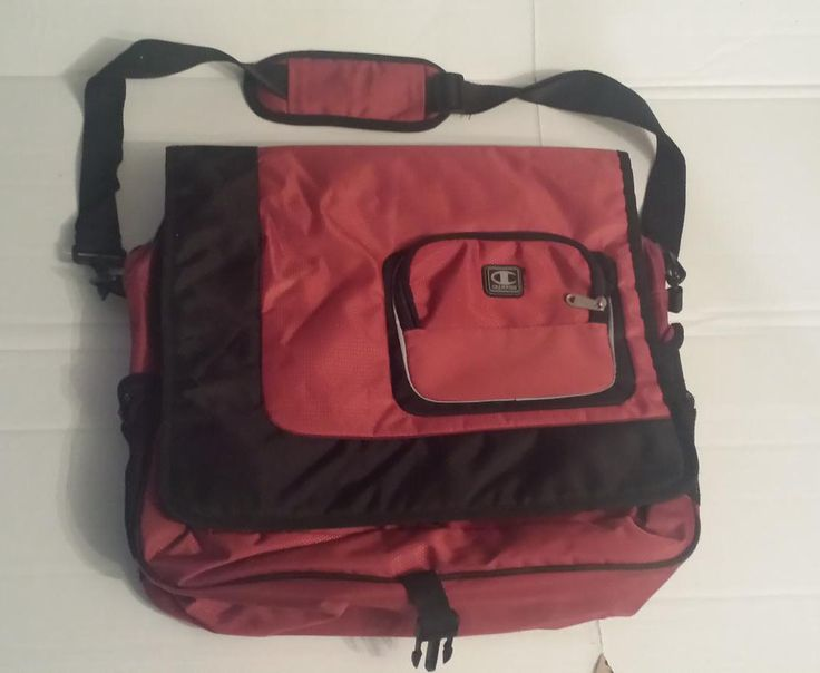 Champion messenger #bag red color with laptop protection pocket by InGear (large) visit our ebay store at  http://stores.ebay.com/esquirestore