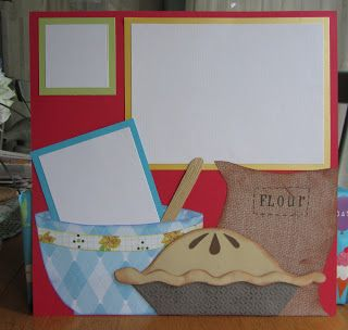 ARTFUL WHIMSIES: Cooking Scrapbook Pages