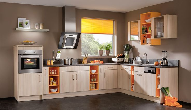 einbauk che felia akazie farbenfrohe k chen einbauk che k che und eingebaut. Black Bedroom Furniture Sets. Home Design Ideas