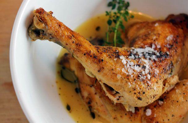 Pollo alla griglia con erbe e limone
