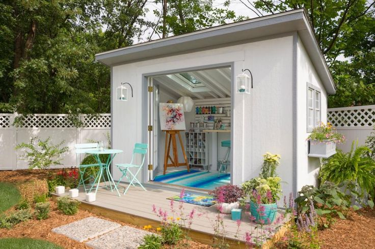 Wish your home had the square footage for an office, a craft space or a gym? With a little creativity, you can turn a simple shed into an extra room.