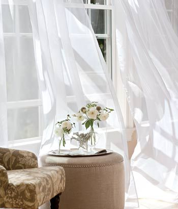 Country Curtains Sheer 5 Hem 58 Wide Panel Available In For Dining Room Natural Color