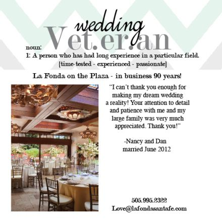 La Fonda on the Plaza is a uniquely New Mexican destination venue located in the heart of the Santa Fe plaza. La Fonda is truly a Wedding Veteran that has been in business for 90 years! #weddingveteran #destinationwedding #santafe
