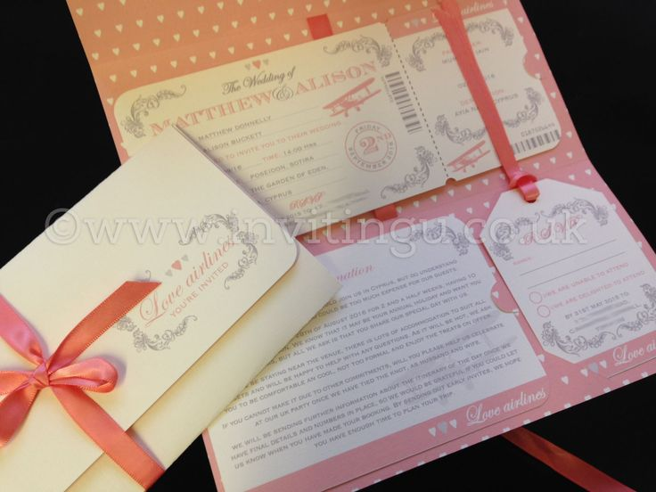 8 best boarding pass invites wedding stationery images on pinterest