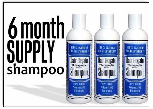 Hair Regain Hair Loss Shampoo - No Sulfates - 6 Month Supply by Hair Regain Natural Hair Loss System. $24.95. DHT Blockers work to stop hair loss at the cause, and reverse it's ill effects.. Saw Palmetto and Nettles are the main ingredients in Hair Regain; both are important for hair loss prevention and reversal.. Hair Regain is all natural, with no animal ingredients and is made in the U.S.A.. Spray-cap makes reaching the scalp quick and easy.. Non-oily, no scent, no sulfates...