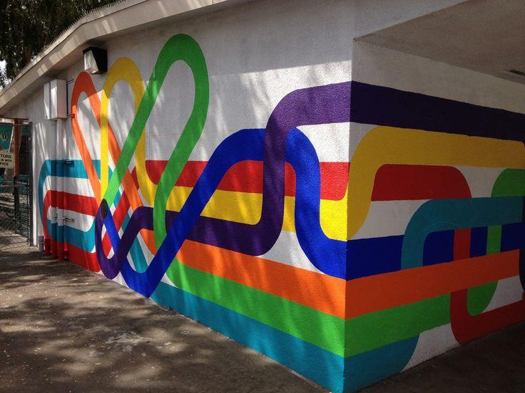 mural at micheltorena elementary school in los angeles, by jordan crane