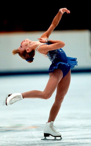 Tara Lipinski competing in the Free Skate of the 1998 Olympics in Nagano, Japan.