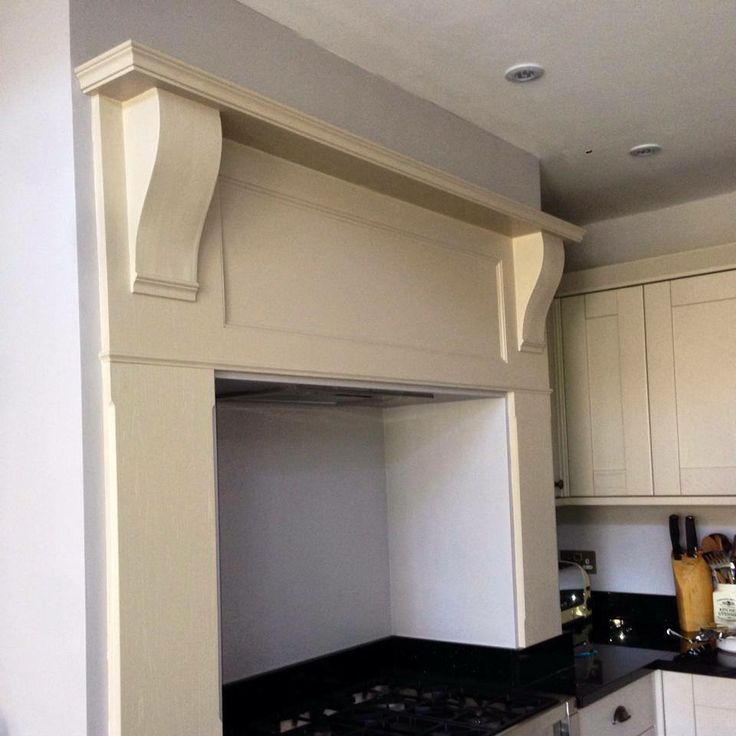 Bespoke kitchen mantle surround for above a range cooker ...