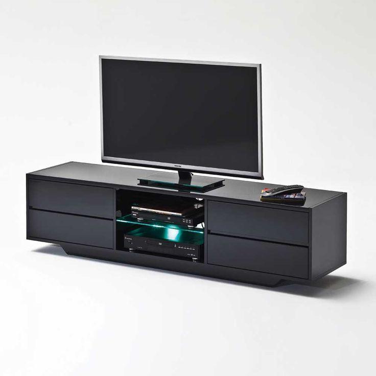 Superb TV Lowboard in Schwarz Hochglanz LED Beleuchtung Jetzt bestellen unter https moebel ladendirekt de wohnzimmer tv hifi moebel tv lowboards uid udaae
