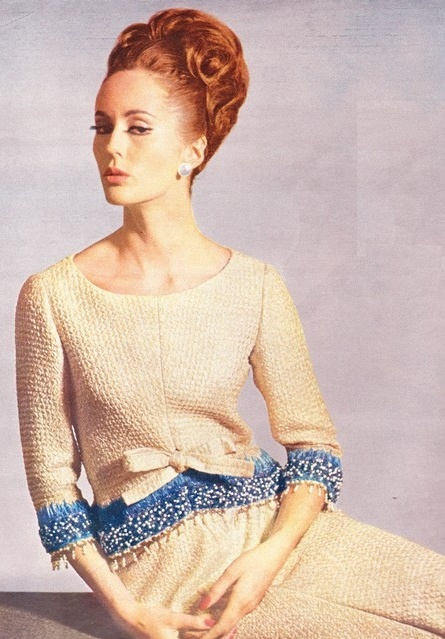 60s hair and makeup inspiration from this Nina Ricci Photoshoot