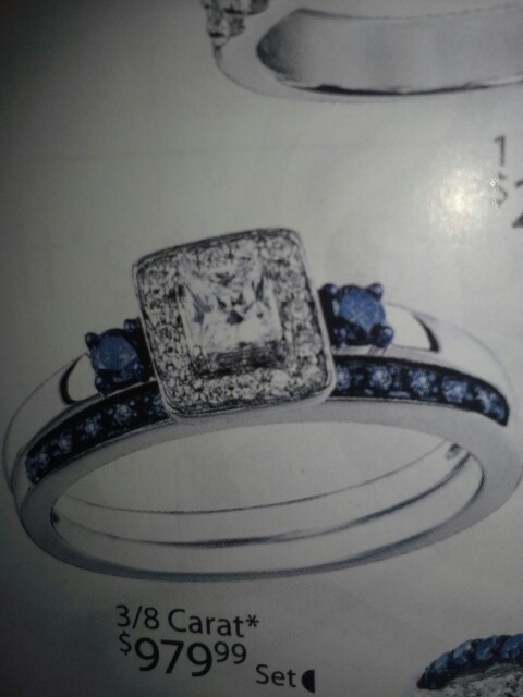 My wedding rings from Kays Jewler