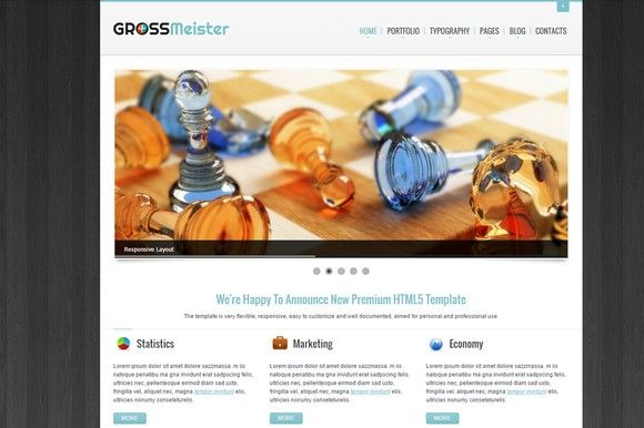 GrossMeister HTML Template. HTML/CSS Themes. $10.00