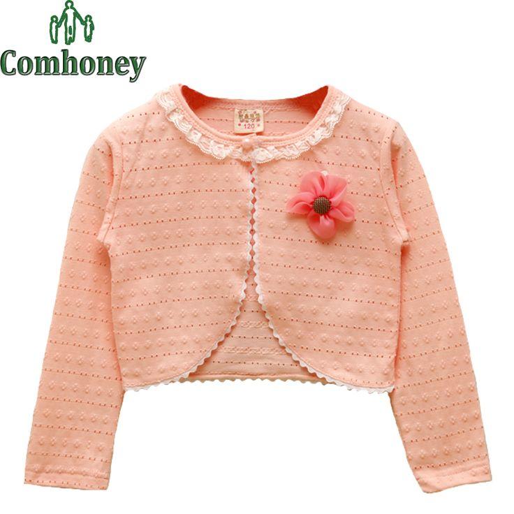 Девушки Болеро Кабо Пальто С Длинным Рукавом Розовые Розы Детская Куртка для Девушки Дети Цветочные Плащ Ребенка Весной Одежда детская верхняя одежда