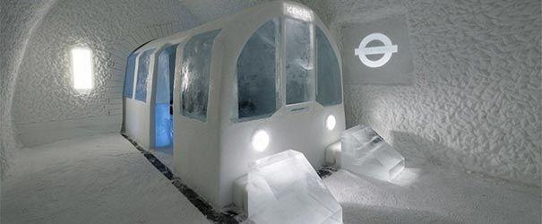 Hotel de Gelo na Suécia. O hotel de gelo é muito estravagante.