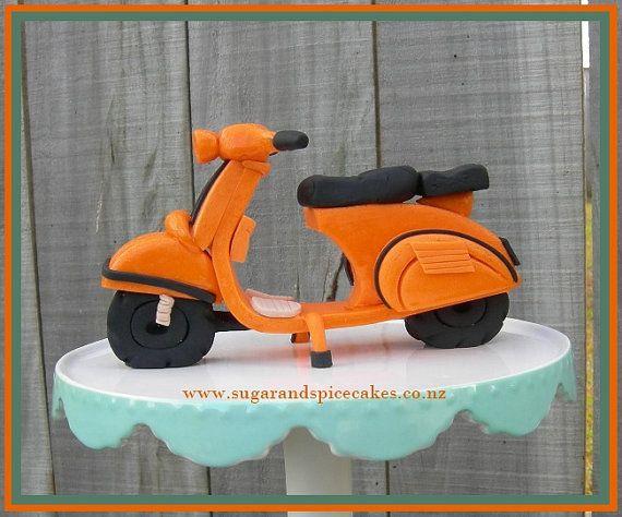 Fondant VESPA Scooter  TUTORIAL in .pdf Cake by MelSugarMamas, $8.00