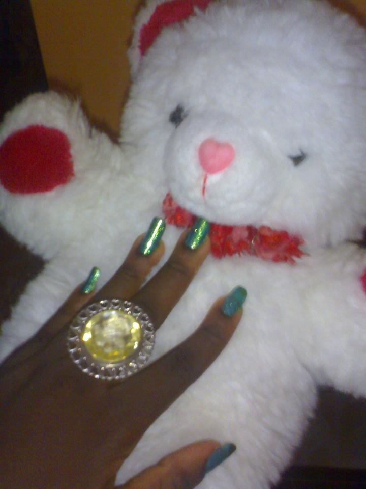 cute teddy,nice nail polish