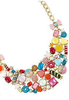 Betsey Johnson Candy Bib Necklace #belk #accessories
