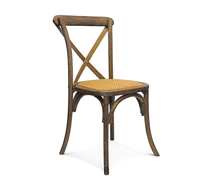 CROSSBACK The provincial crossback chair is a classic in french design.  Combining elegant lines and a rustic finish this chair is perfect for events, weddings or functions.