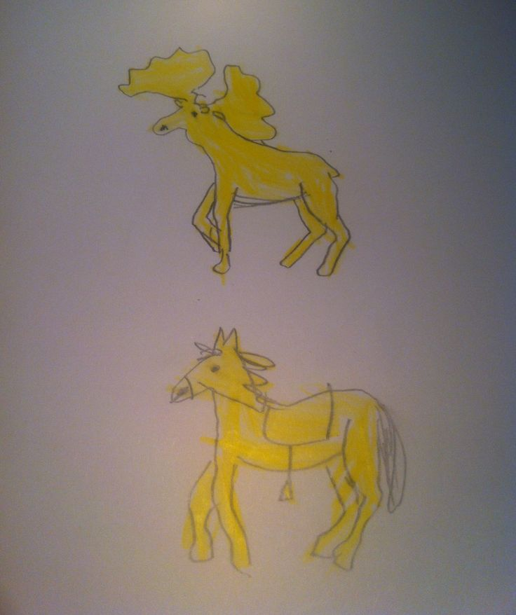 #Day13 - Horse and hound....or Moose.Coloring assistant: Vicky H