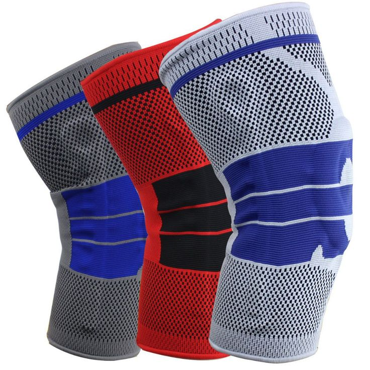 Hitorhike 1 Pcs Silicone Knee Brace Sport Safety Football Basketball KneePads Tape Knee Support Calf Knee Protection