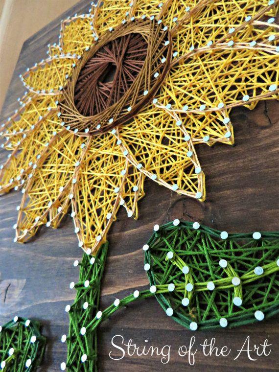 String Art Kit Sunflower String Art DIY Kit von StringoftheArt
