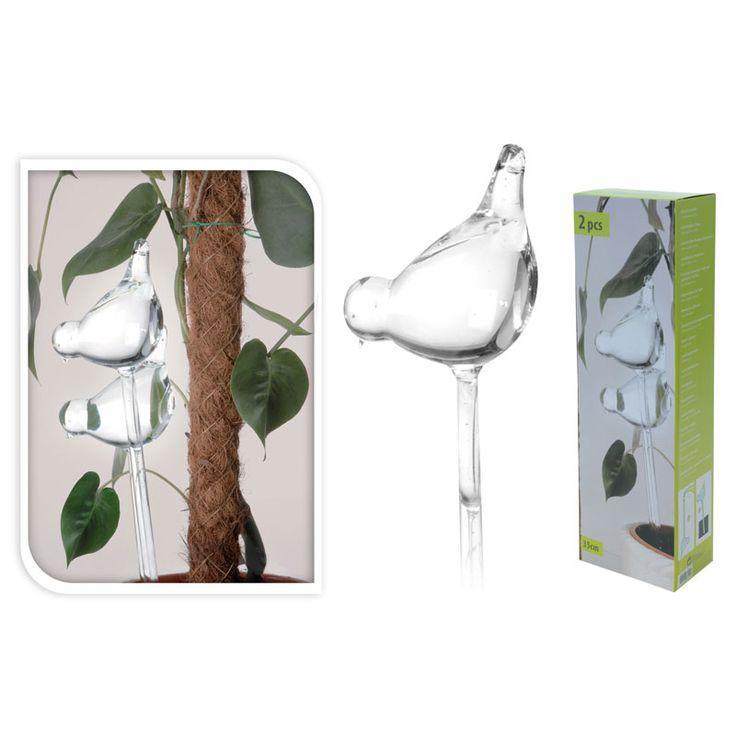Vergeet nooit meer je planten water te geven. Met deze planten watergever glazen vogel zijn uitgedroogde of verzopen planten verleden tijd.