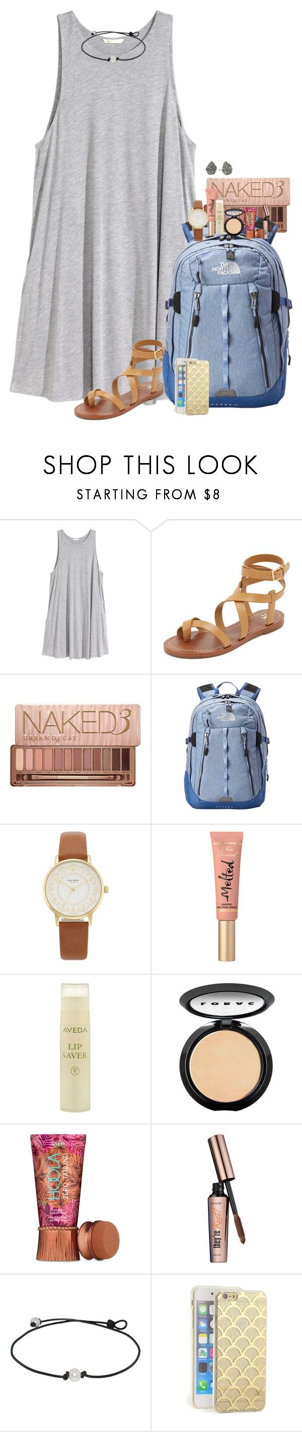 """Last Day of School! Contest Entry RTD"" by penguinfan911 ❤ liked on Polyvore featuring H&M, Tory Burch, Urban Decay, The North Face, Kate Spade, Too Faced Cosmetics, Aveda, LORAC, Benefit and Sonix"