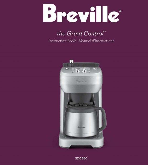 Breville Bdc650 Grinder Failure Instruction Manual