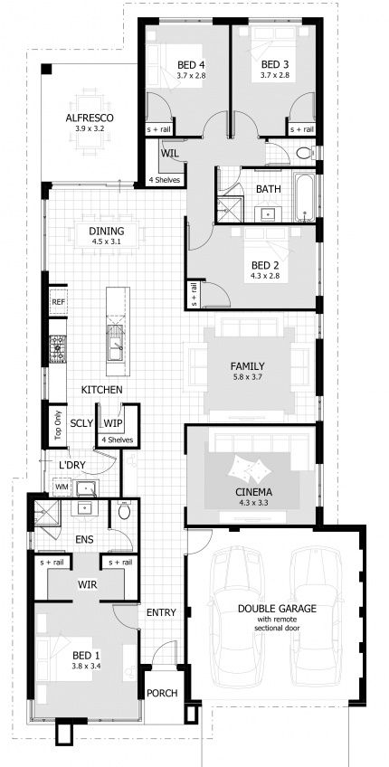 Beaufort Floor Plan. 12.5m design