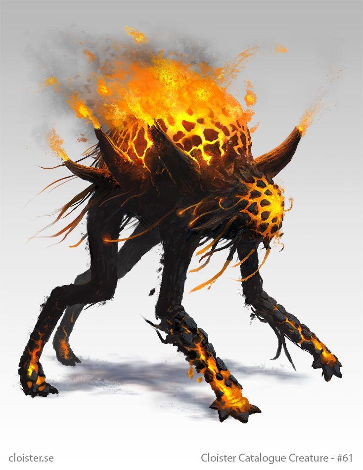 Othnorian Firewalker - creature concept by Cloister on DeviantArt