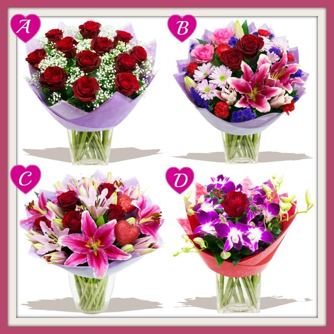 Tell us which one of our Valentine's Day bouquets is your favourite?  A: Bella Rosa, B: Love Me Tender, C: Love Story or D: Cupid ???   http://www.eden4flowers.co.uk/