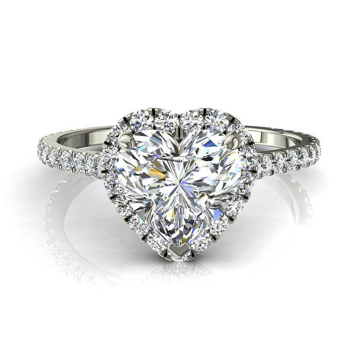 Bague de fiançailles pour femme solitaire bague diamant coeur 0,80 carats or blanc Camogli-coeur  #diamants #diamantsetcarats #bouclesd #BagueDiamantRond #OrJaune #PendentifDiamantElena #PendentifDiamant #SolitaireBagueDiamant #Solitaire4Griffes #SolitaireDiamant
