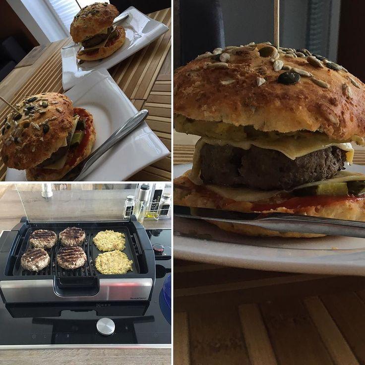 XL Burger #selfmade#eat#yammi#likeit#instafood#вкусно#lowcarb#burger#cheesy  Inspiriert Von @schmale_schulter by katja777_